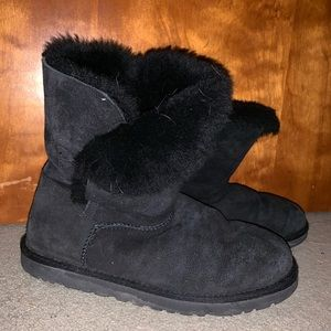 Ugg black button boots